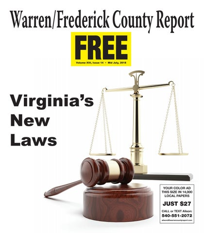 Mid July 2018 Warren/Frederick County Report