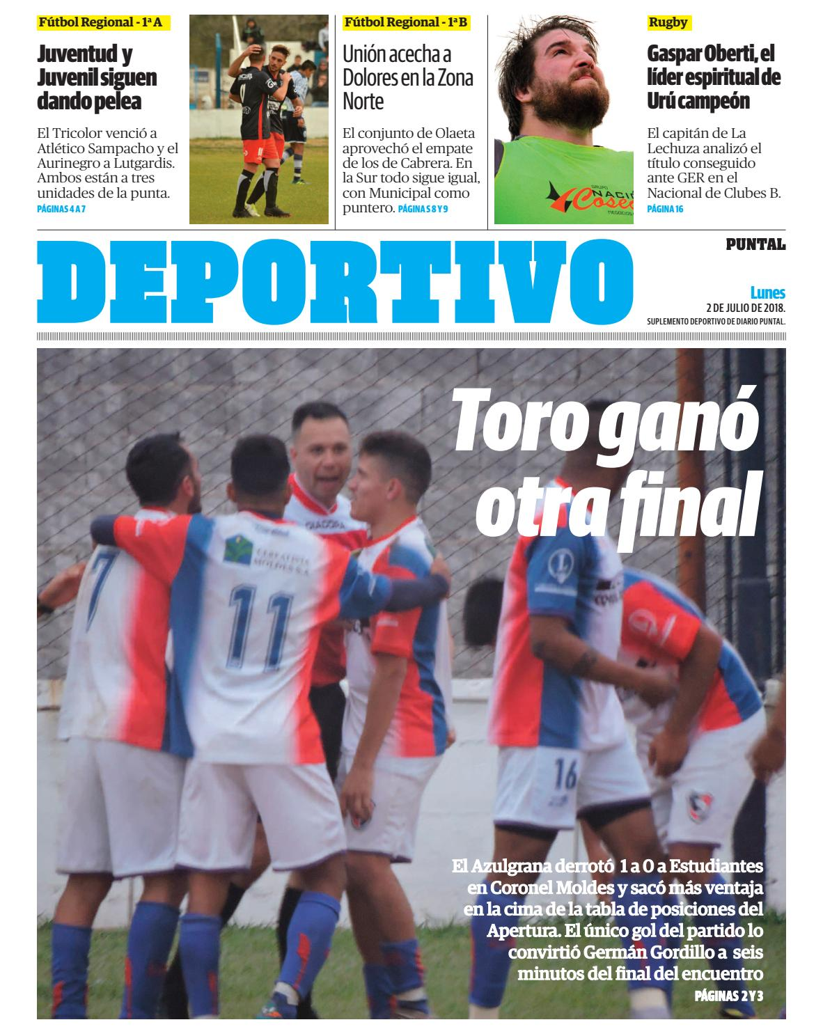 Puntal - Suplemento Deportivo (02/07/2018) by Puntal - issuu