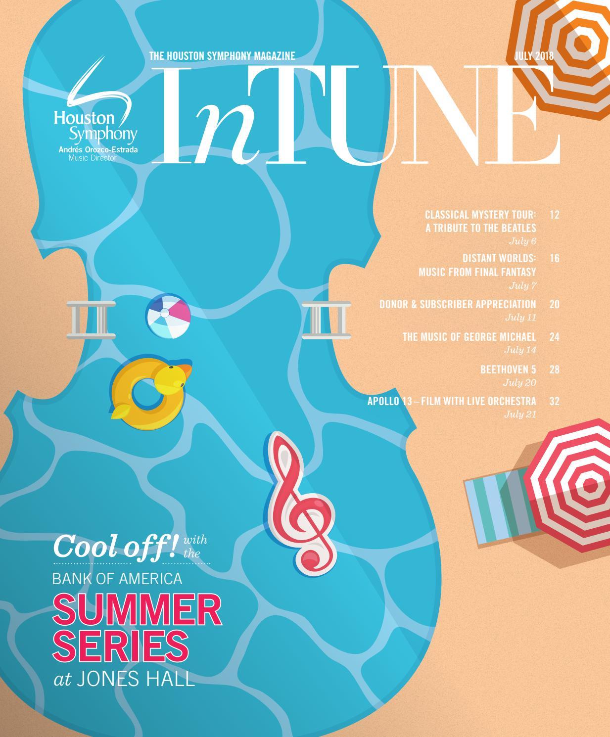 61a2ec52eb InTune — The Houston Symphony Magazine — July 2018 by Houston ...