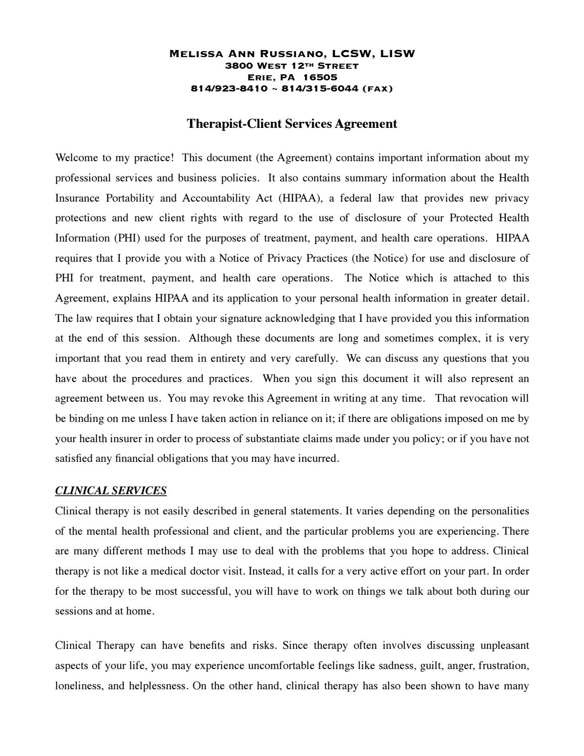 Melissa Russiano Service Agreement By Me1094 Issuu
