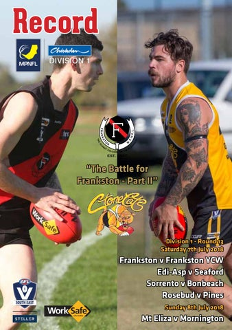 Mpnfl round 13 web july 7 by AFL South East - issuu