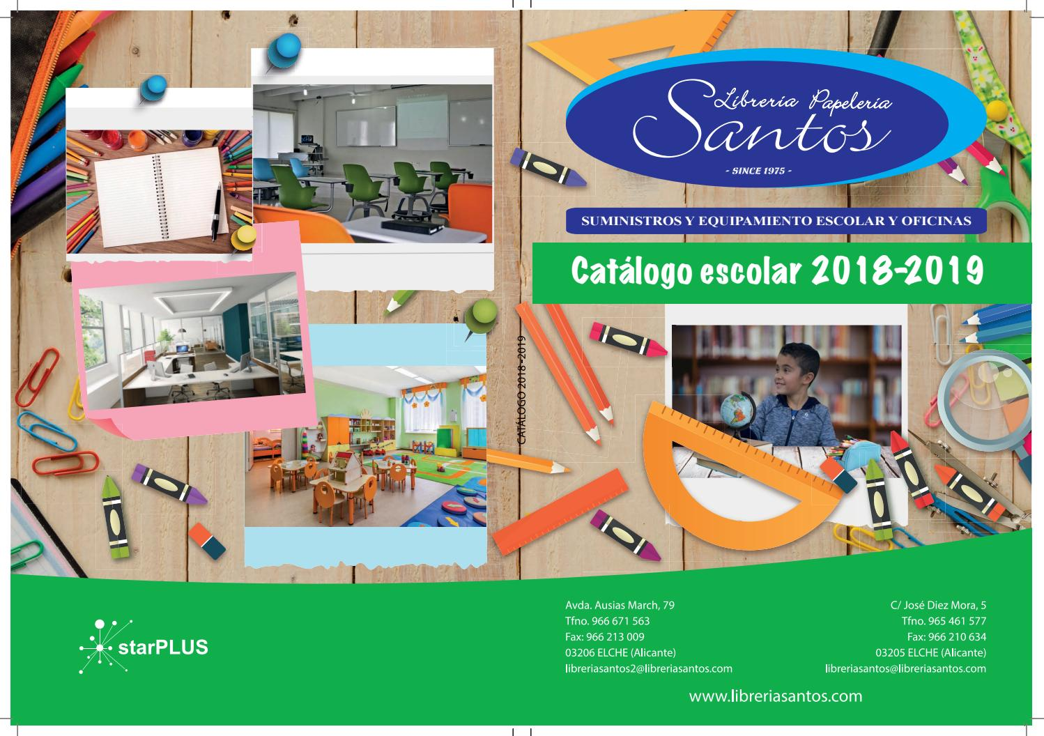 7989049f07 Catalogo escolar 2018 2019 by libreriasantos - issuu