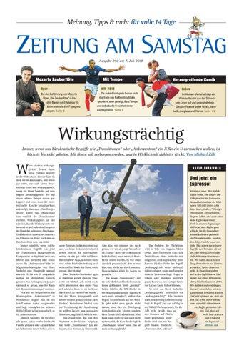 250. Ausgabe, ET 07.07.2018 By ZEITUNG AM SAMSTAG Verlags GmbH   Issuu