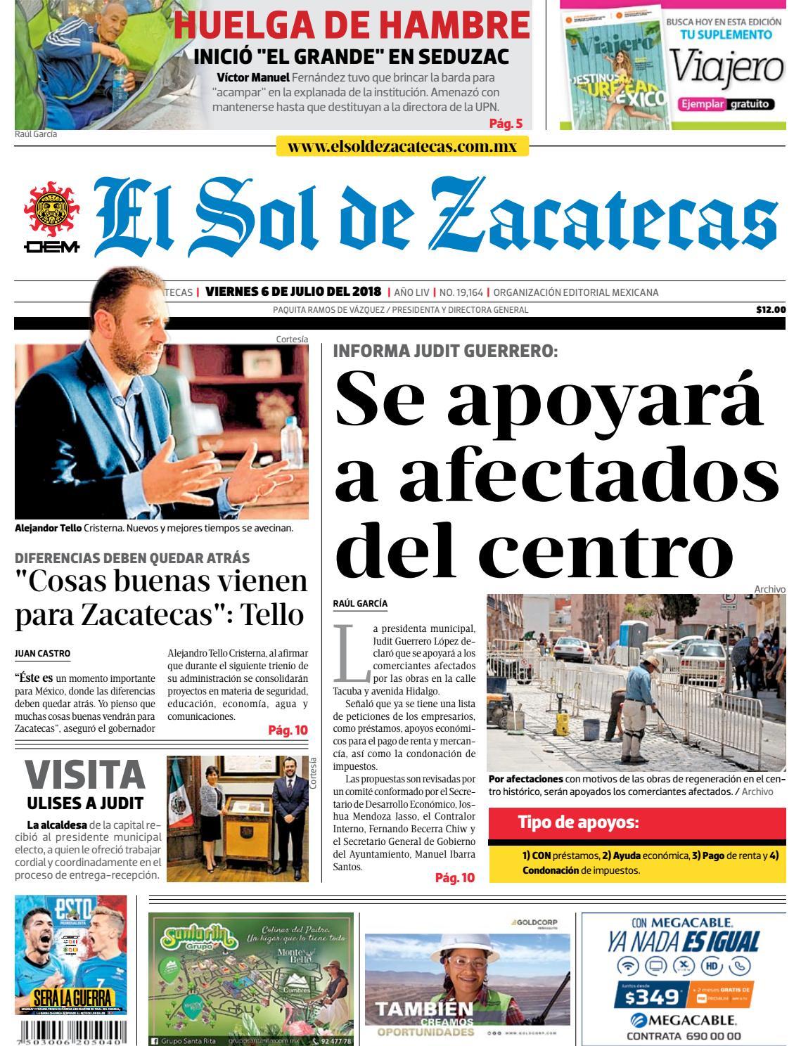 El Sol de Zacatecas 6 de julio 2018 by El Sol de Zacatecas - issuu b63680a317a