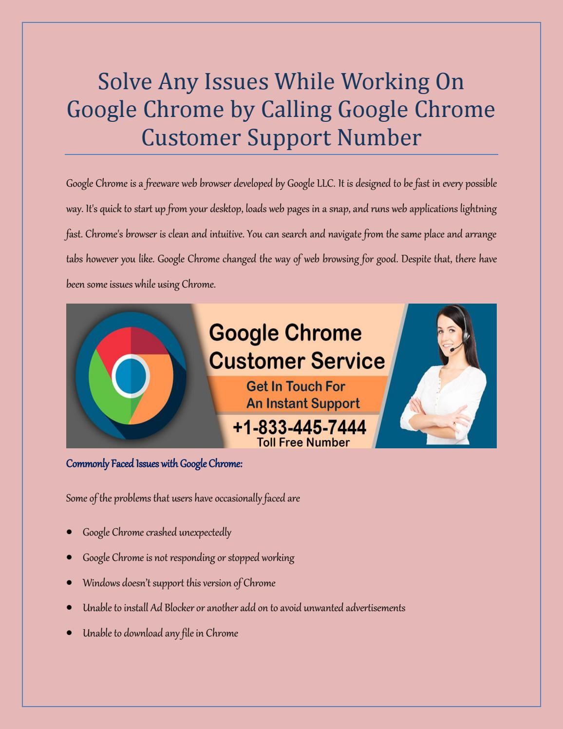 Google Chrome Technical Help Support Number +1-833-445-7444 USA