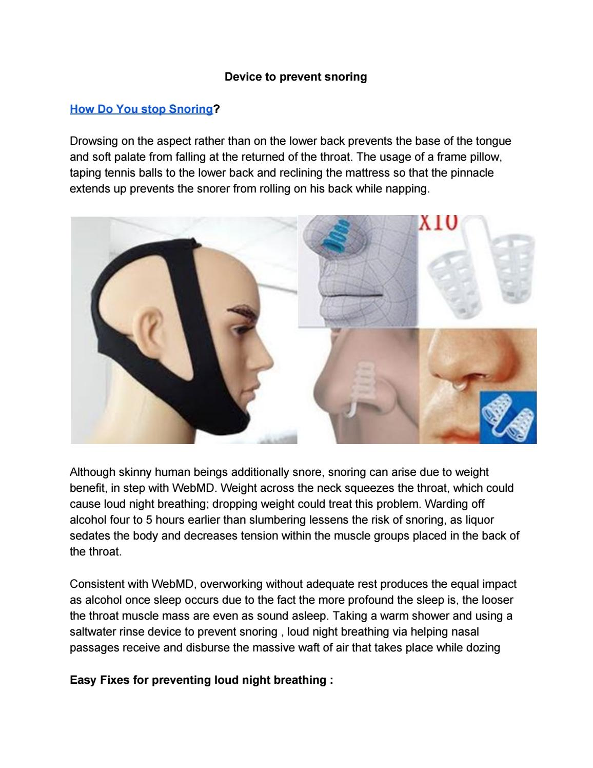Device To Prevent Snoring By Akona4404 Issuu