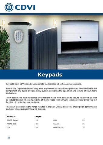 Page 22 of Keypads