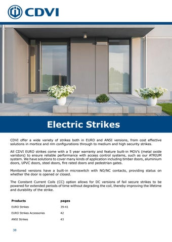 Page 38 of Electric Strikes