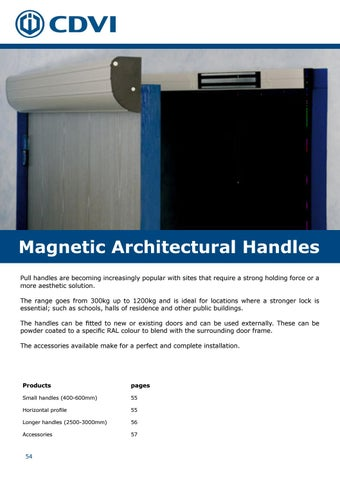 Page 54 of Magnetic Architectural Handles