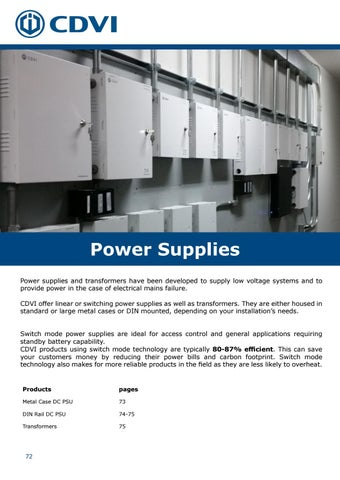 Page 72 of Power Supplies