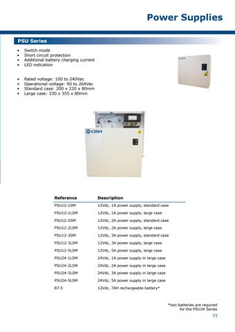Page 73 of Power Supplies