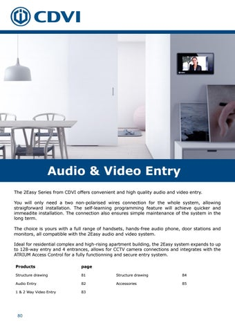 Page 80 of Audio & Video Entry