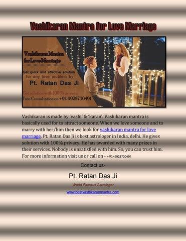 Vashikaran mantra for love marriage by Astrologer Ratan Das - issuu