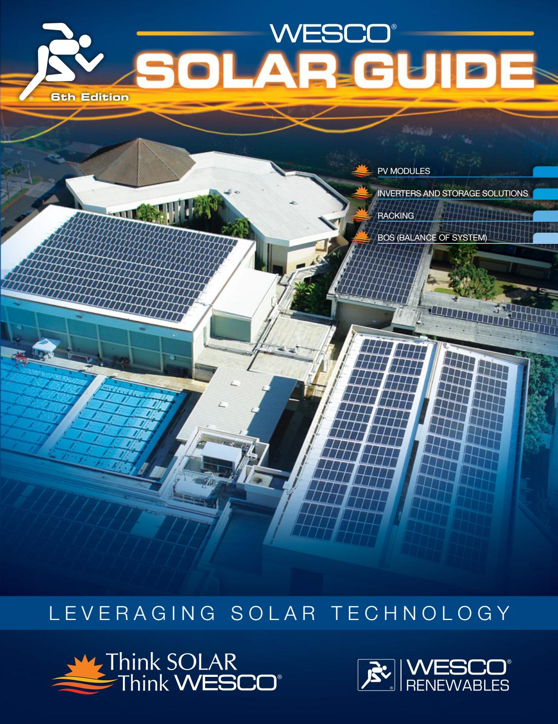 WESCO Solar Guide - 6th Edition by WESCO Distribution - issuu