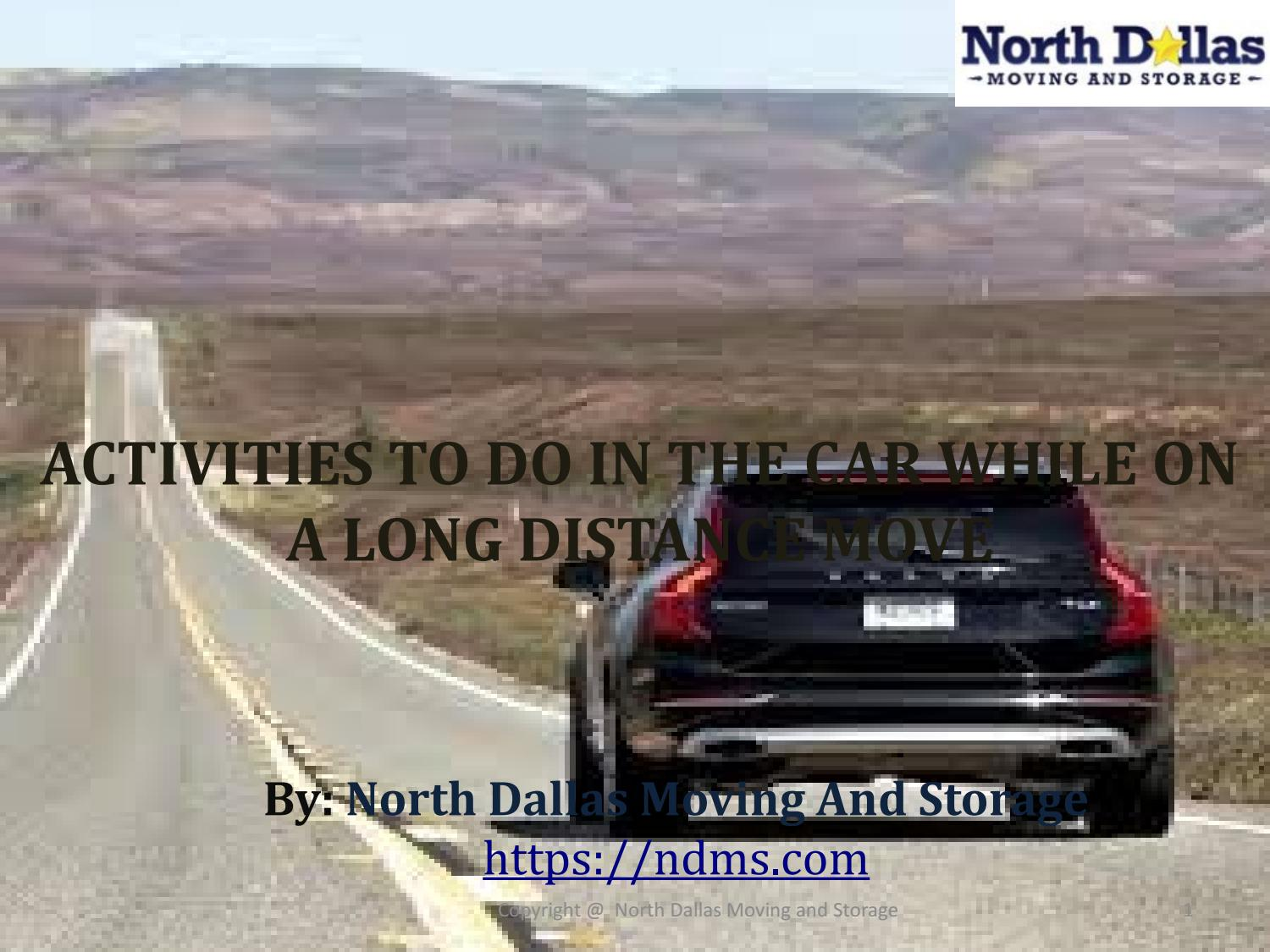 Activities To Do In The Car While On A Long Distance Move By Ndms.moving    Issuu