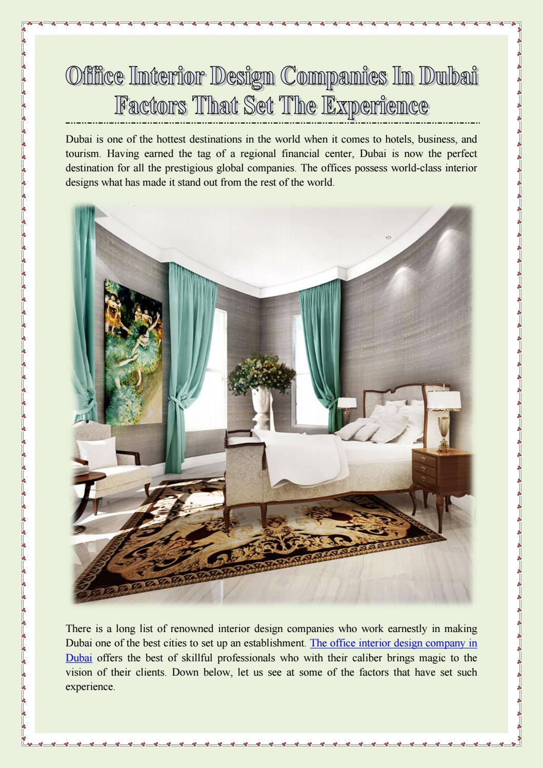 Office Interior Design Companies In Dubai Factors That Set The Experience By Hts Interior Design Llc Issuu