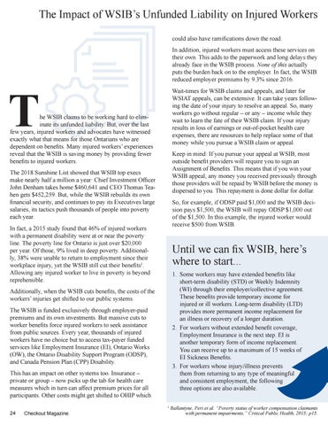 Page 24 of The Impact of the Unfunded Liability on Injured Workers