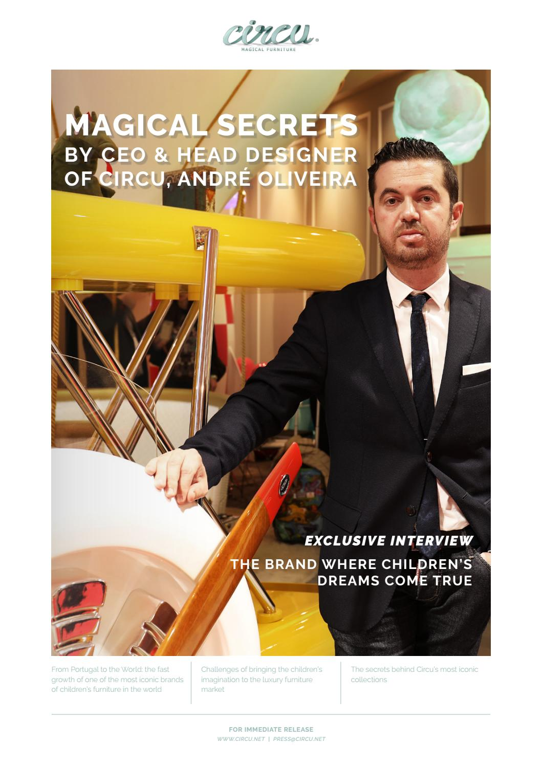 Magical Secrets by CEO & Head Designer of Circu, André Oliveira by