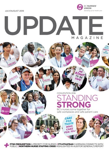 BCNU Update Magazine July-August 2018 by BC Nurses' Union