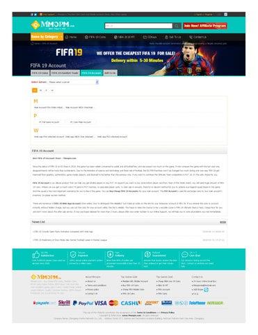 FIFA 19 Account, Safe FUT 19 Mule Accounts, Buy Cheap FIFA