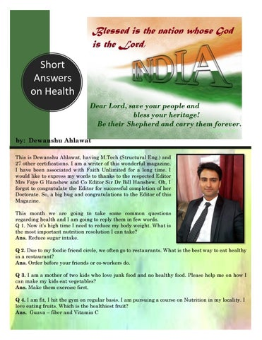 Page 12 of Short Answers on Health