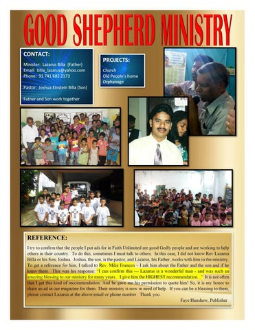 Page 14 of GOOD SHEPHERD MINISTRY
