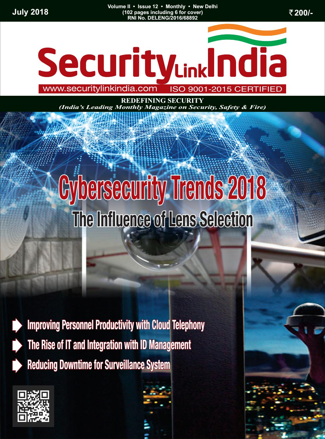 Magazine July 2018 by Security Link India - issuu