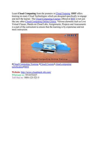 Learn cloud computing online free