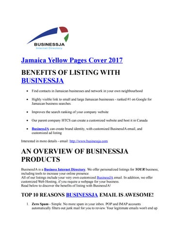 Jamaica Yellow Pages Cover 2017 by business ja - issuu