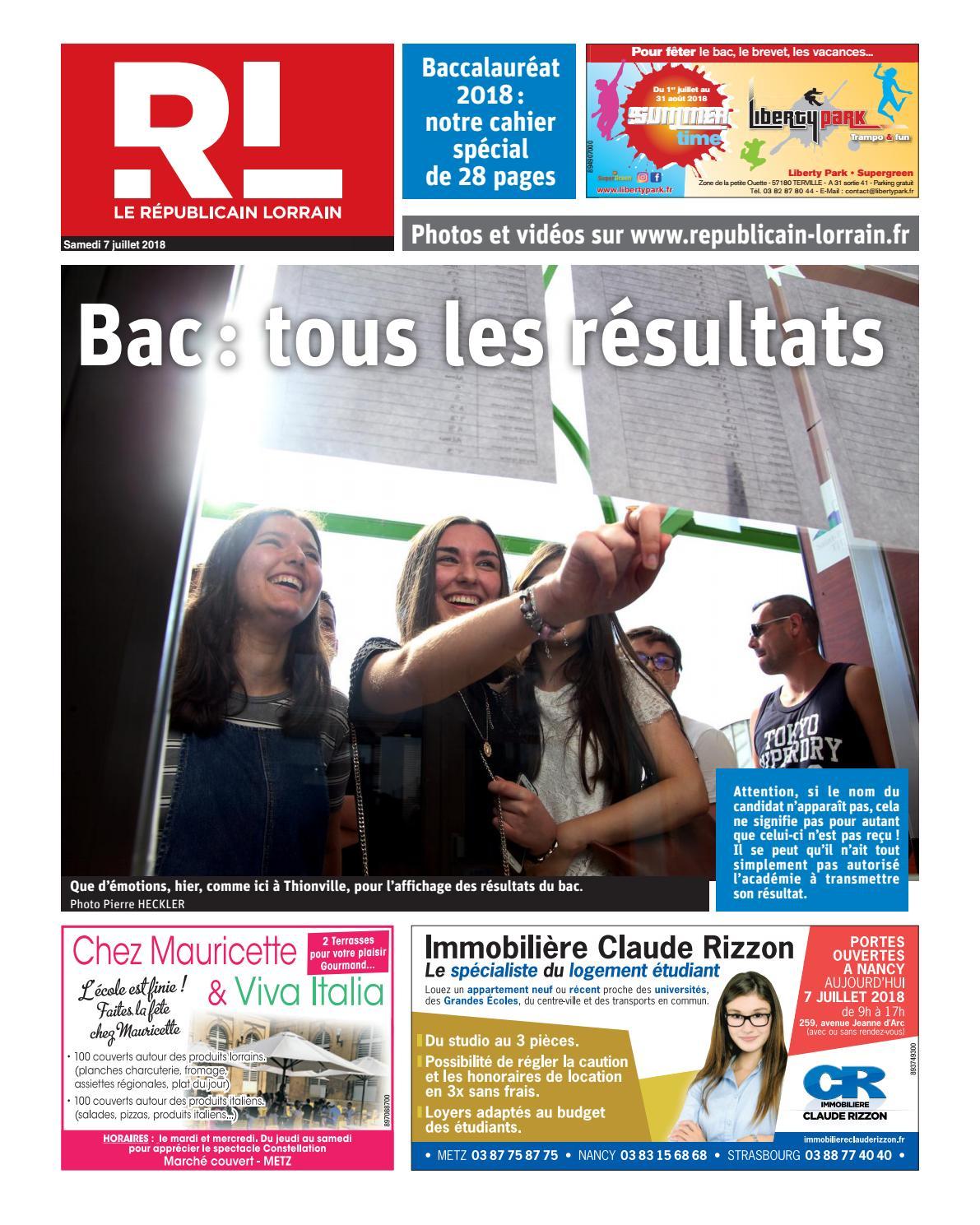 Bac Lorrain Issuu Résultat 2018 By Républicain tdCshQr