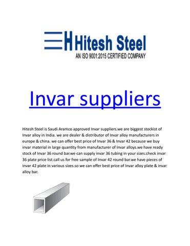 Invar suppliers by Hitesh Steel - issuu