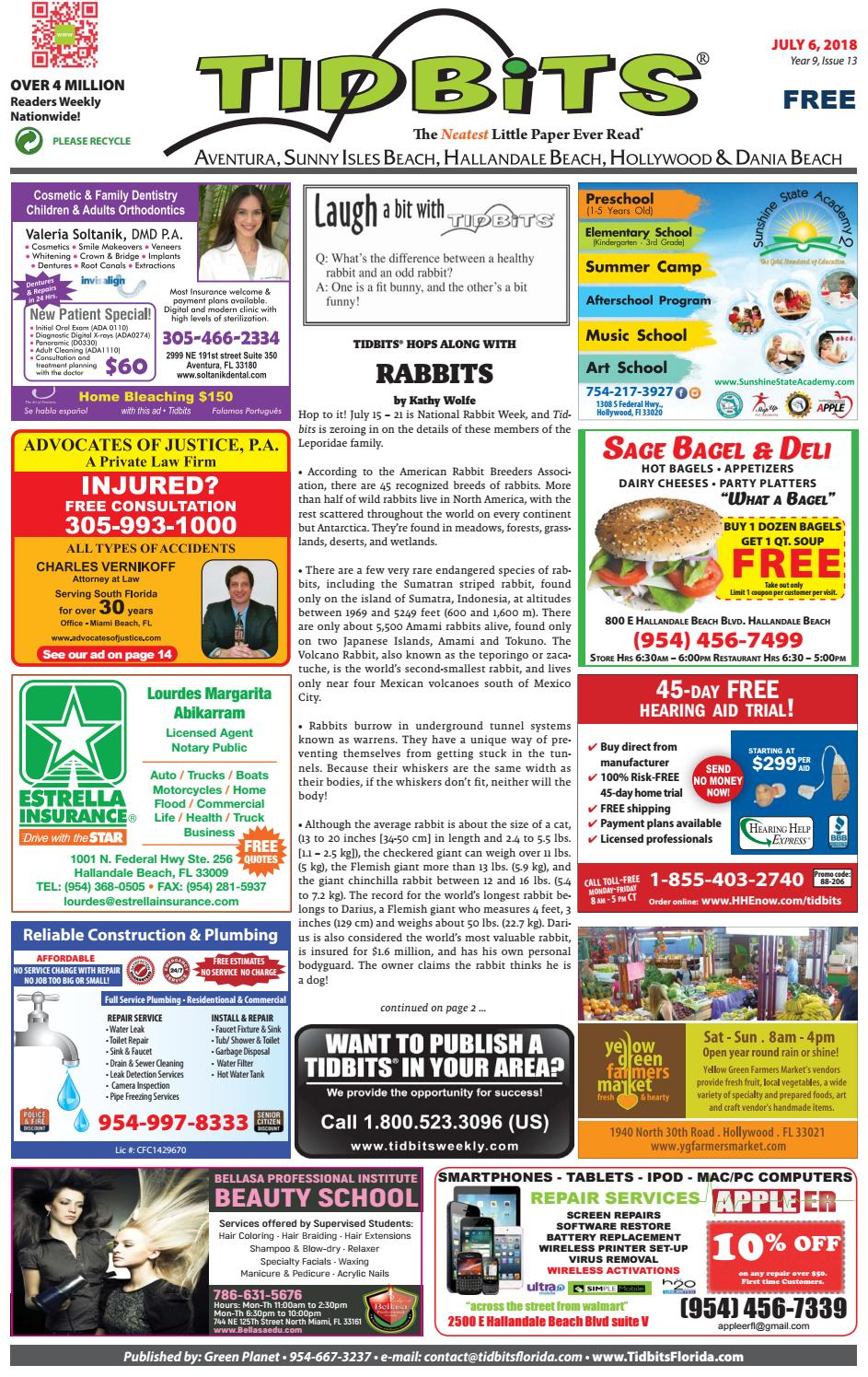 Tidbits of Greater Ft  Lauderdale & Aventura - Vol 9, Issue