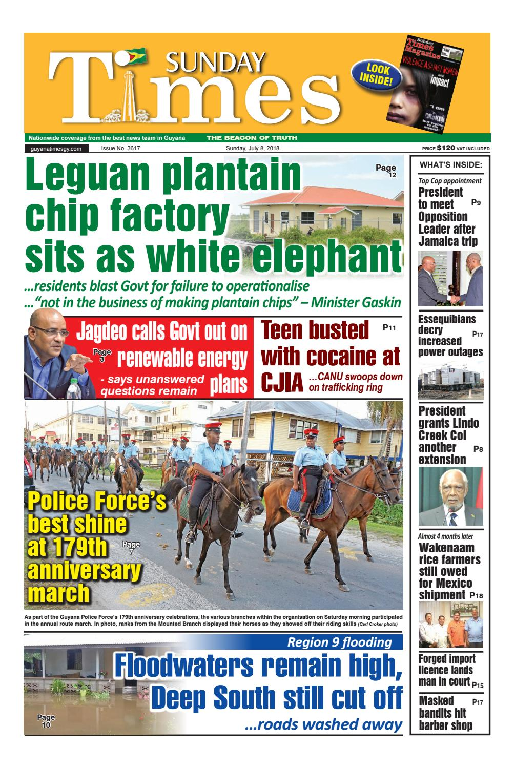 Guyana Times, Sunday, July 8, 2018 by Gytimes - issuu