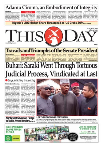 Sunday 8th July 2018 By Thisday Newspapers Ltd Issuu