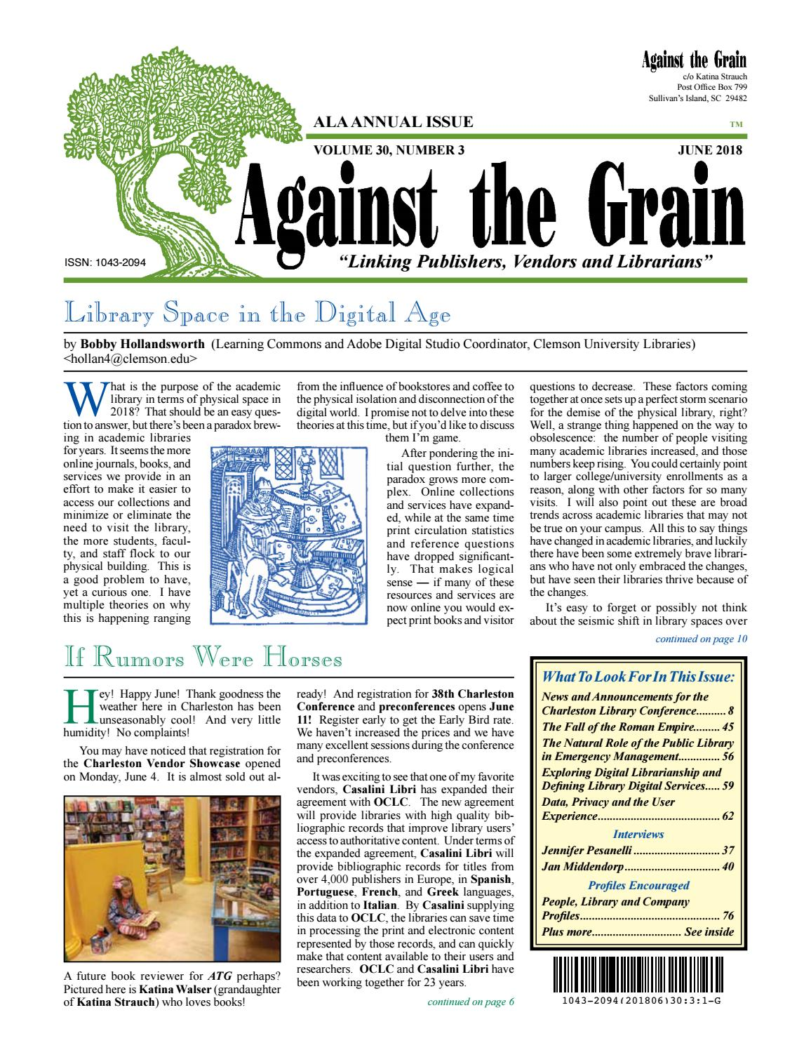 Against the grain v30 3 june 2018 by against the grain issuu fandeluxe Gallery
