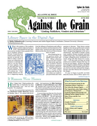 b92fdefe00a0 Against the Grain v30  3 June 2018 by against-the-grain - issuu