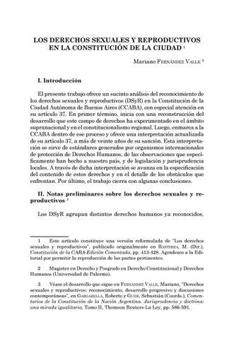 Page 13 of Los derechos sexuales y reproductivos en la Constitución de la Ciudad - Mariano Fernández Valle