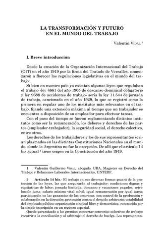 Page 191 of La transformación y futuro en el mundo del trabajo - Valentín Vidal