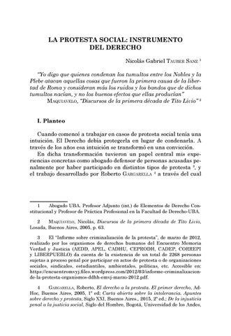 Page 257 of La protesta social: instrumento del Derecho - Nicolás Gabriel Tauber Sanz