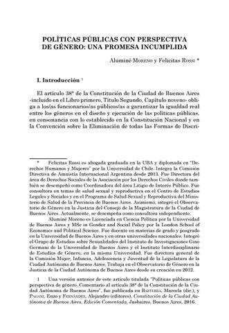 Page 33 of Políticas públicas con perspectiva de género: una promesa incumplida - Aluminé Moreno y Felicitas Rossi
