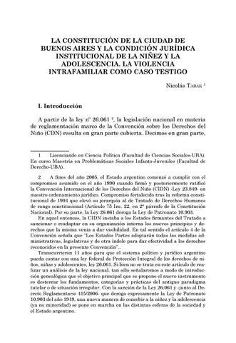 Page 65 of La Constitución de la Ciudad Autónoma de Buenos Aires y la condición jurídica institucional de la niñez y la adolescencia. La violencia intrafamiliar como caso testigo - Nicolás Tabak