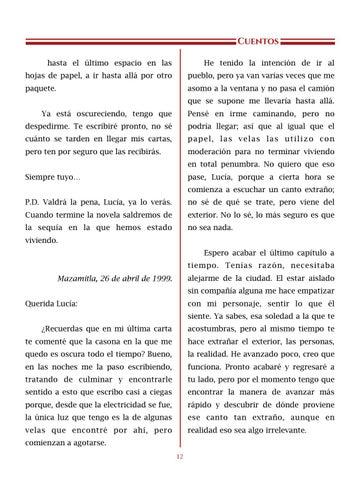 Page 13 of El canto, por Wendy N. Gutiérrez - Cuentos
