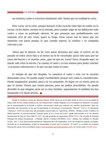 Page 16 of Uróboros, por Alejo Ruíz - Cuentos