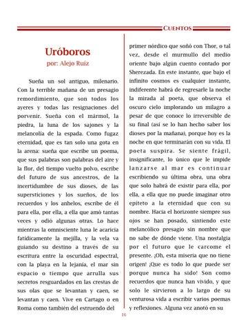 Page 17 of Uróboros, por Alejo Ruíz - Cuentos