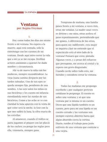 Page 22 of Ventana, por Regina Freyman - Cuentos