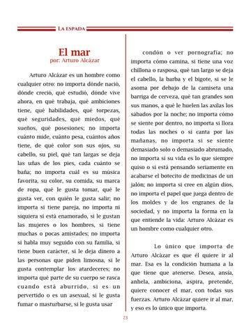 Page 24 of El mar, por Arturo Alcázar - Cuentos