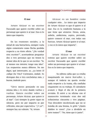 Page 25 of El mar, por Arturo Alcázar - Cuentos