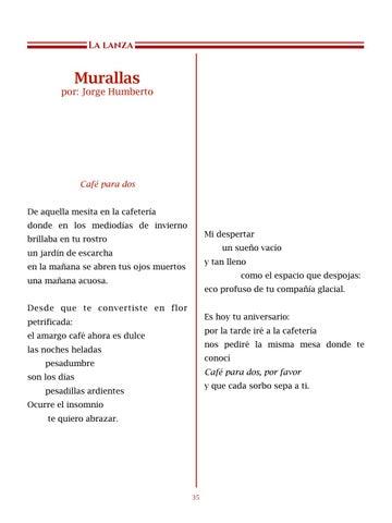 Page 36 of Murallas, por Jorge Humberto - Poemas