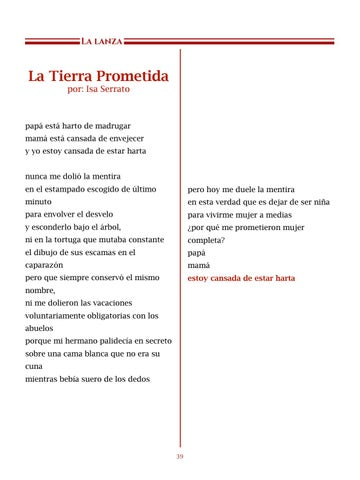 Page 40 of La Tierra Prometida, por Isa Serrato - Poemas