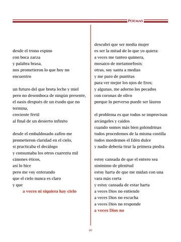 Page 41 of La Tierra Prometida, por Isa Serrato - Poemas